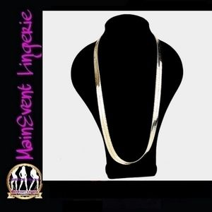 """Other - Gold 30"""" Superflex 11mm Herringbone Necklace"""
